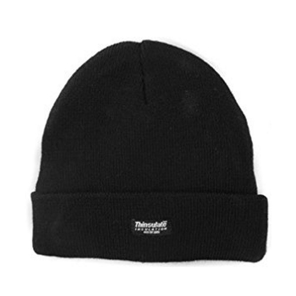 Thinsulate Knitted Beanie Hat (Mens) (Black)