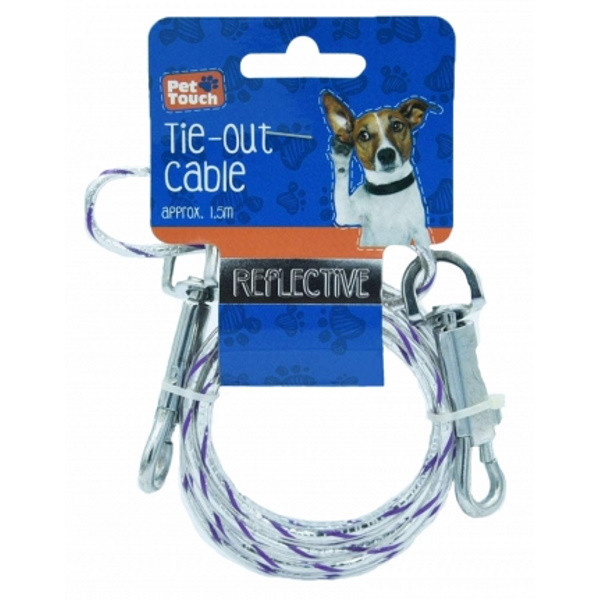 Dog Tie Out Cable 5ft (Reflective)